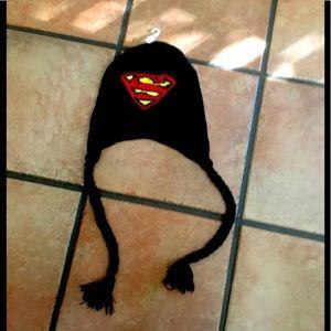 DC Superman Logo Adult Winter Laplander Hat New